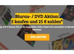 Dealclub: Fünf Blu-rays nach Wahl für 28,95 Euro mit Versand