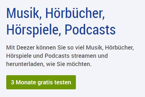 Gratis: 3 Monate Deezer via GMX und Web.de zum Nulltarif