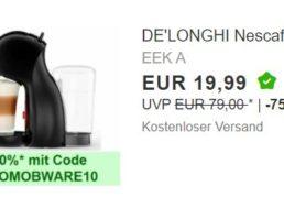 """Ebay: """"Dolce Gusto""""-Kapselmaschine für unter 18 Euro"""