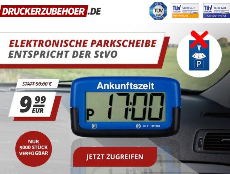 Druckerzubehoer.de: Elektronische Parkscheibe für 9,99 Euro
