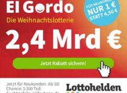 El Gordo 2020: Weihnachtslotterie mit 2,4 Milliarden Euro Gewinnen