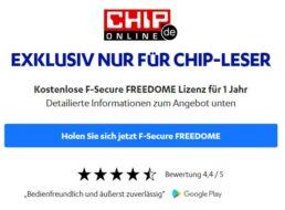 Gratis: F-Secure VPN für ein Jahr zum Nulltarif