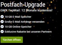 Gratis: GMX TopMail im Wert von 60 Euro für 1 Jahr geschenkt