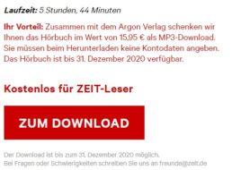 """Gratis: Hörbuch """"Der Schneesturm"""" mit knapp 6 Stunden Spielzeit"""