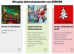 Gratis: Hörspiel-Adventskalender von Europa