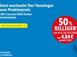 Lidl Connect: Starterpaket mit 10 Euro Guthaben für 4,84 Euro