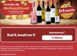 Lidl: 6 Flaschen Wein nach Wahl zum Preis von 5
