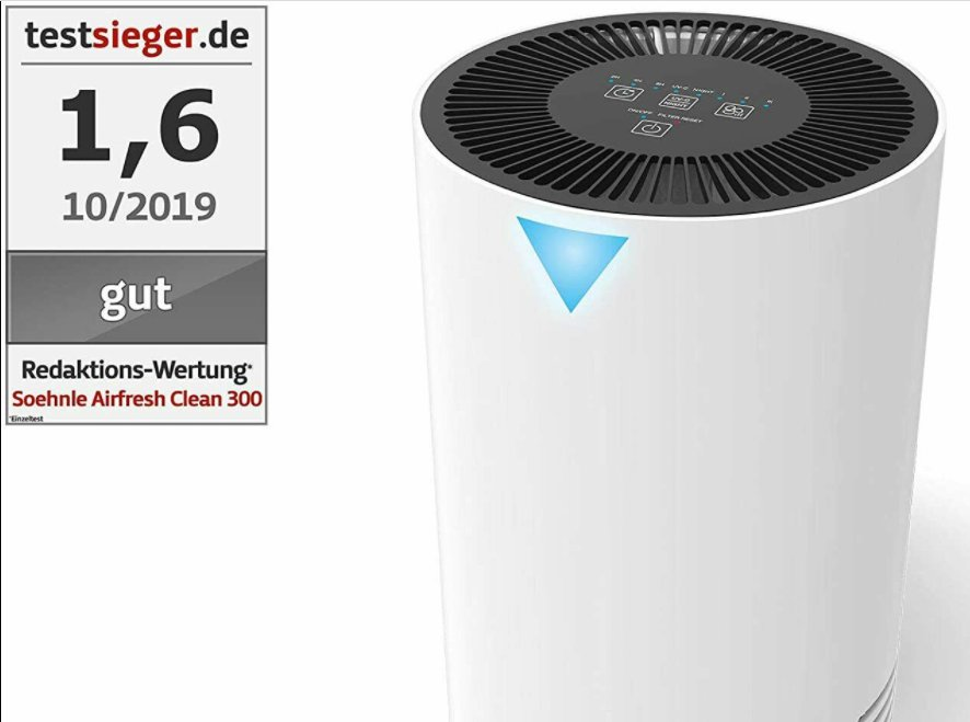 Ebay: Luftgreiniger mit UV-C-Licht für 104,99 Euro frei Haus