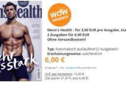 Mens Health: Zwei Ausgaben mit automatischem Ende für 6 Euro