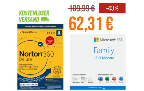 "NBB: 15 Monate ""Office 365 Family"" für 62,31 Euro"