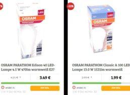 Osram: LED-Leuchtmittel beim Dealclub ab 1,49 Euro plus Versand