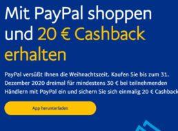 Paypal: 20 Euro Cashback für ausgewählte Kunden