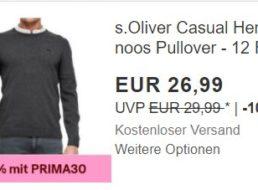 s.Oliver: Pullover für 18,89 Euro frei Haus dank Gutschein