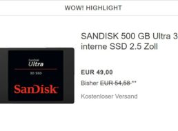 Ebay: SSDs mit 500 und 1000 GByte zu Schnäppchenpreisen