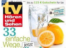 TV Hören und Sehen: Jahresabo für 114,60 Euro mit Gutschein über 115 Euro