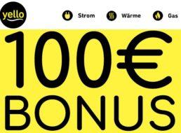 Yello Strom: 100 Euro Bonus zum neuen Stromvertrag