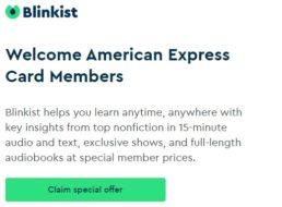 Knaller: 1 Jahr Blinkist gratis via American Express