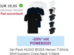Hugo Boss: Dreierpack T-Shirts für 31,96 Euro frei Haus