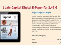 Capital: Jahresabo als ePaper für 2,49 Euro, via Paypal zahlbar
