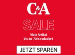 C&A: Sale mit bis zu 70 Prozent Rabatt auf über 1700 Artikel
