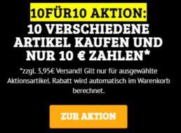 Dealclub: 10 Drogerieartikel nach Wahl für 10 Euro plus Versand