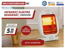 Druckerzubehoer.de: Infrarot-Heizgerät für 5,99 Euro
