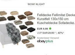 Ebay: Kunstfell-Decke für 9,99 Euro frei Haus