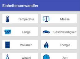 """Gratis: App """"Einheitenumwandler"""" für 0 Euro verfügbar"""