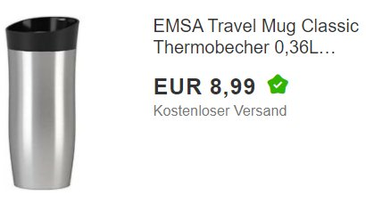 Ebay: Emsa City Mug Thermobecher zum Bestpreis von 8,99 Euro