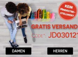 Jeans Direct: Gratis-Versand ohne Mindestbestellwert bis Mittwoch abend