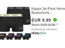 Kappa: Doppelpack Boxershorts für 9,99 Euro frei Haus