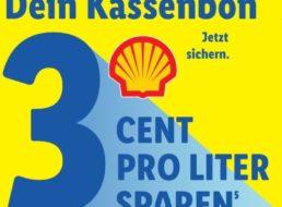 Shell: 3 Cent Tankrabatt via Lidl-Kassenbon