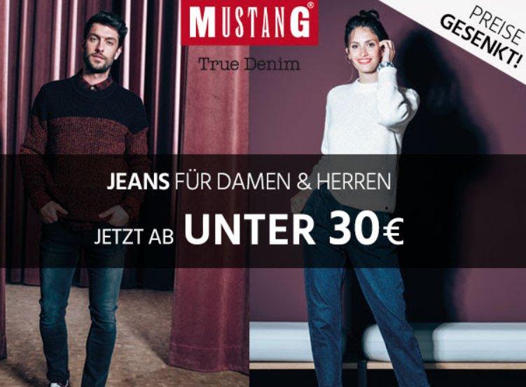 Jeans Direct: Mustang-Jeans für weniger als 30 Euro im Angebot
