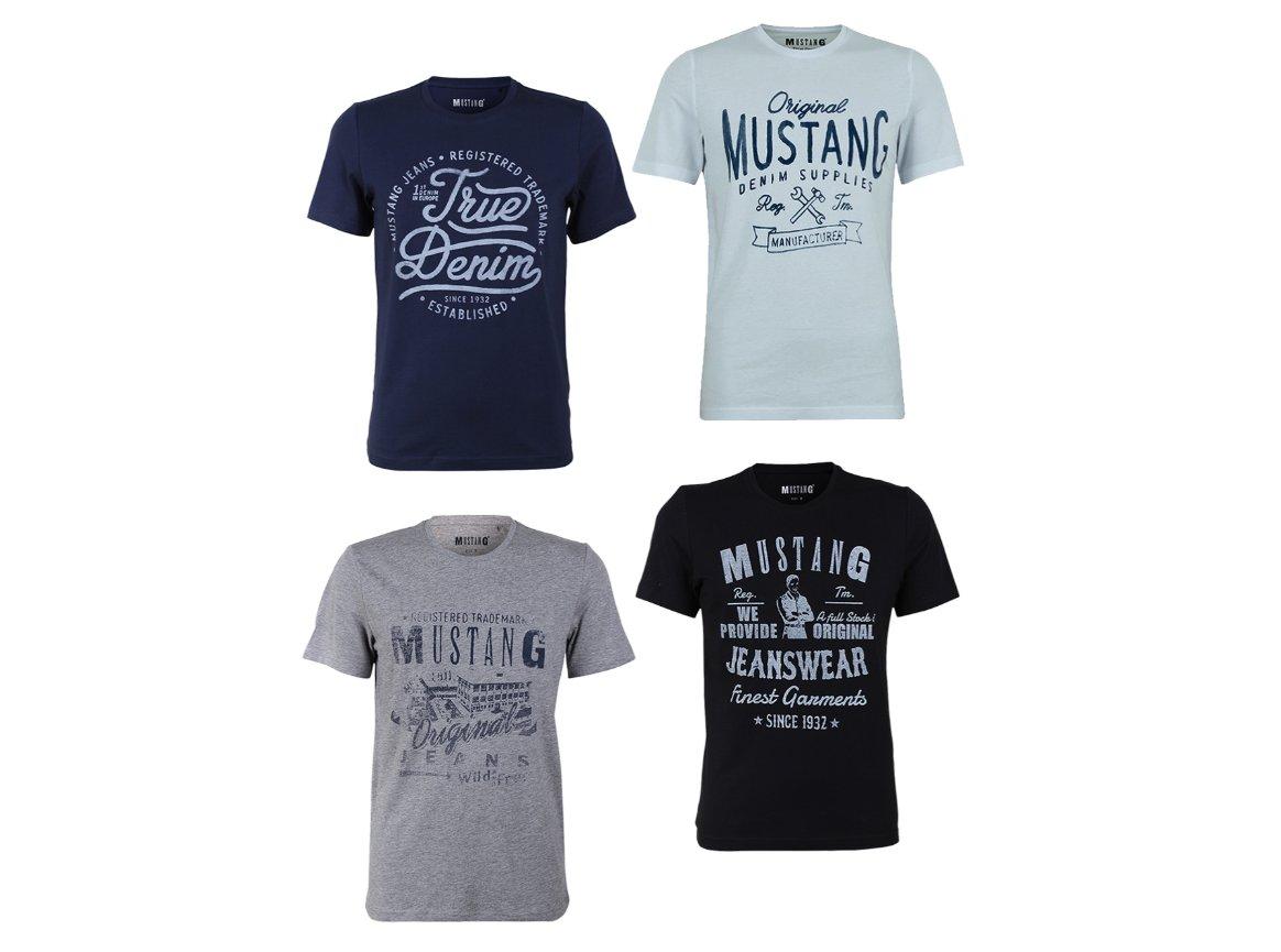 Mustang: Viererpack Shirts für 26,99 Euro mit Gutschein