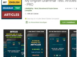 "Gratis: App ""My English Grammar Test Articles Pro"" für 0 Euro"