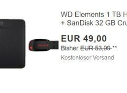 Ebay: TByte-Festplatte und USB-Stick im Bundle für 49 Euro frei Haus