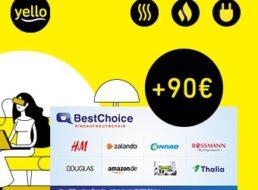 Gratis: 90 Euro Gutschein zum neuen Yello-Stromvertrag geschenkt