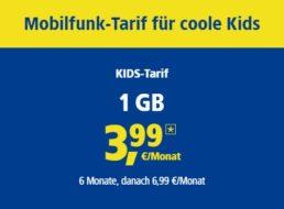 1&1 Kids: Kinder-Handytarife wahlweise mit Smartwatch / Smartphone ab 3,99 Euro