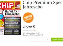 Chip Premium: 12 Hefte mit 24 DVDs für zusammen 29,90 Euro