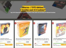 Dealclub: Fünf Blu-rays nach Wahl für 25 Euro plus Versand