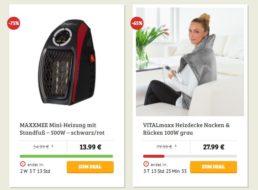 Dealclub: Heizaktion mit fünf Artikeln ab 13,99 Euro
