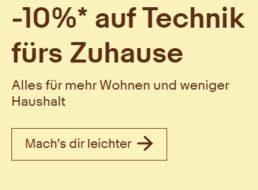 Ebay: Haushaltsgeräte mit 10 Prozent Gutschein-Rabatt