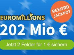 Euromillions: Rekordjackpot von 202 Millionen Euro