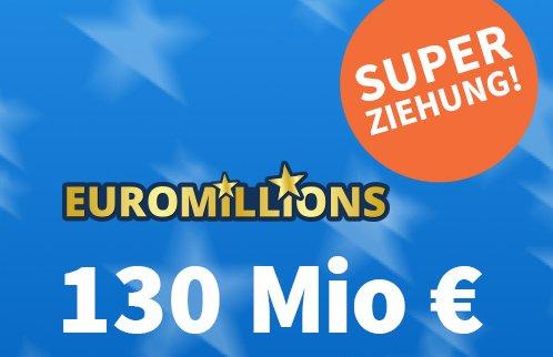 Euromillions: Erste Superziehung mit 130 Millionen Euro im Jackpot