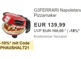 Ebay: G3Ferrari G10032 Pizzamaker zum Bestpreis 125,99 Euro