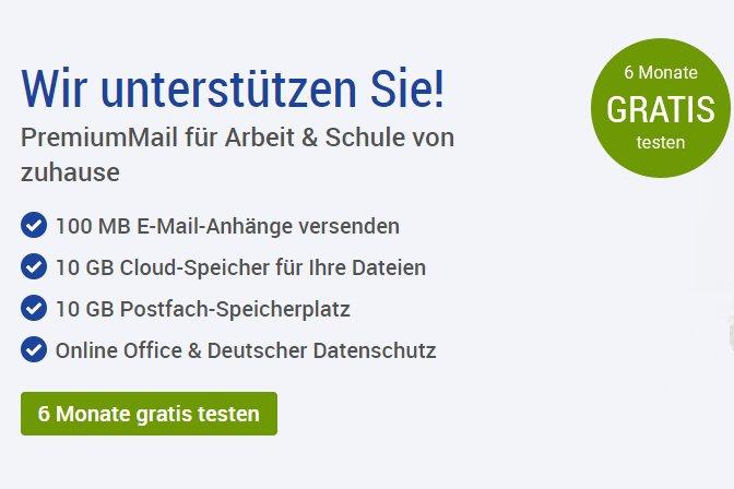 Gratis: GMX Topmail mit Frei-Faxen 6 Monate zum Nulltarif