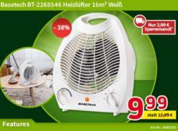 Völkner: Basetech-Heizlüfter für 12,98 Euro frei Haus