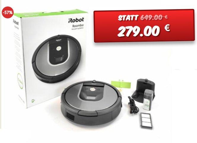 Dealclub: iRobot Roomba 960 in geöffneter Verpackung für 279 Euro frei Haus