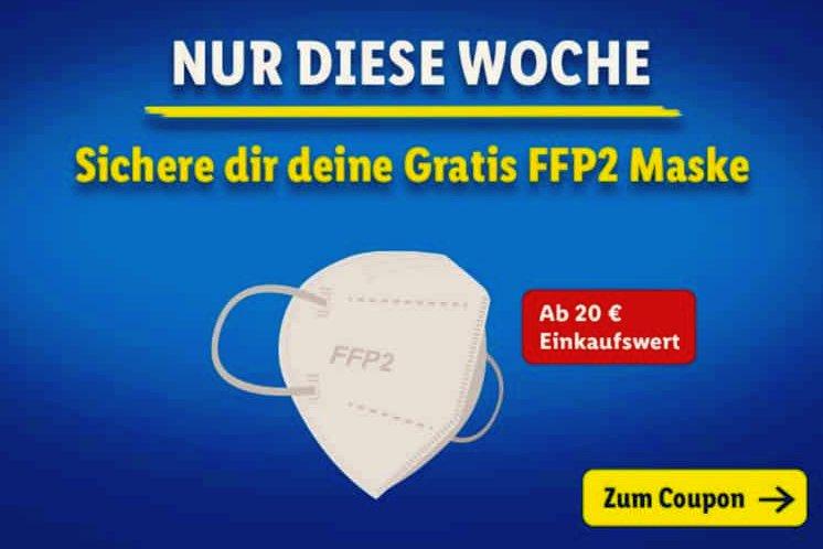 "Gratis: FFP2-Maske bei Lidl via App ""Lidl Plus"""