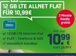 Knaller: Monatlich kündbare LTE-Flat (12 GB) mit Readly für 10,99 Euro